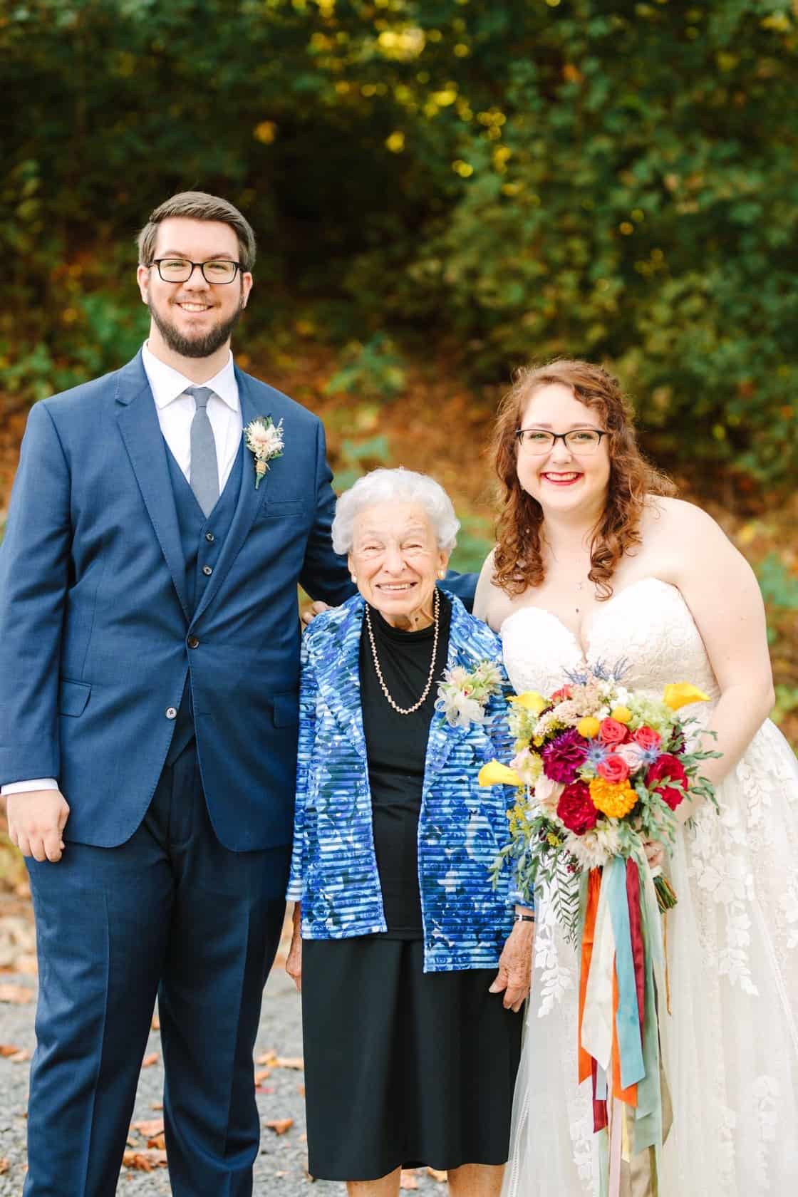 A wedding photo with my grandmother