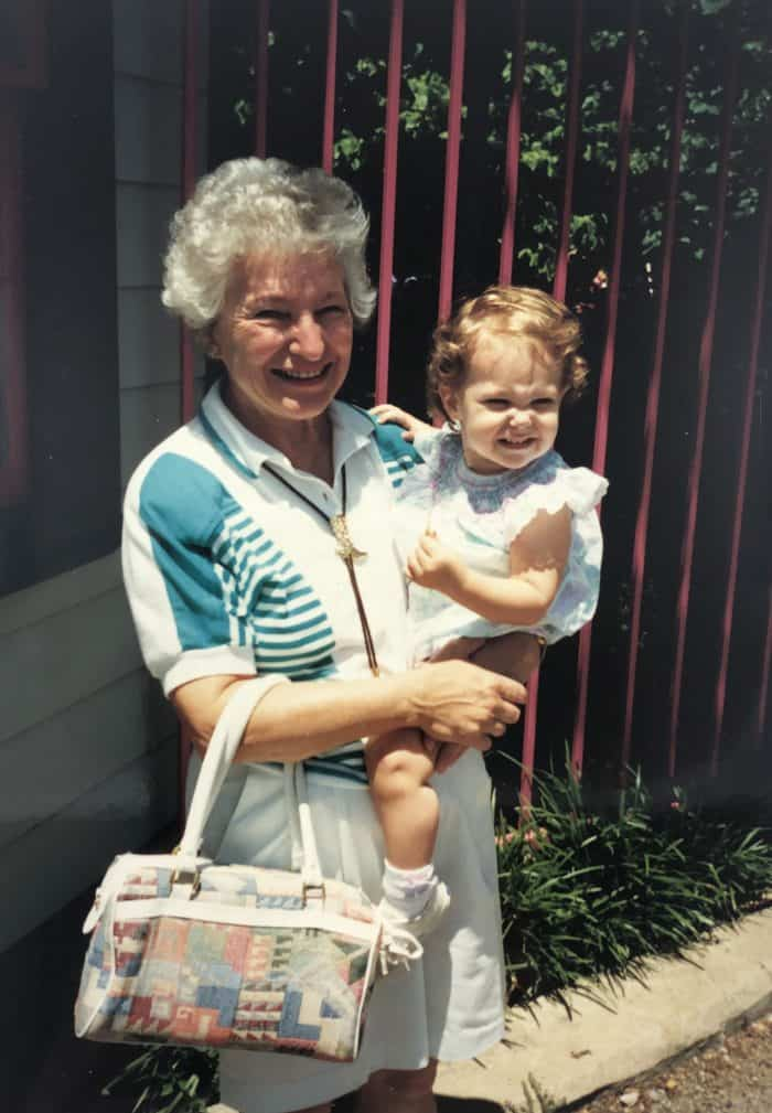 My grandma and me when I was little