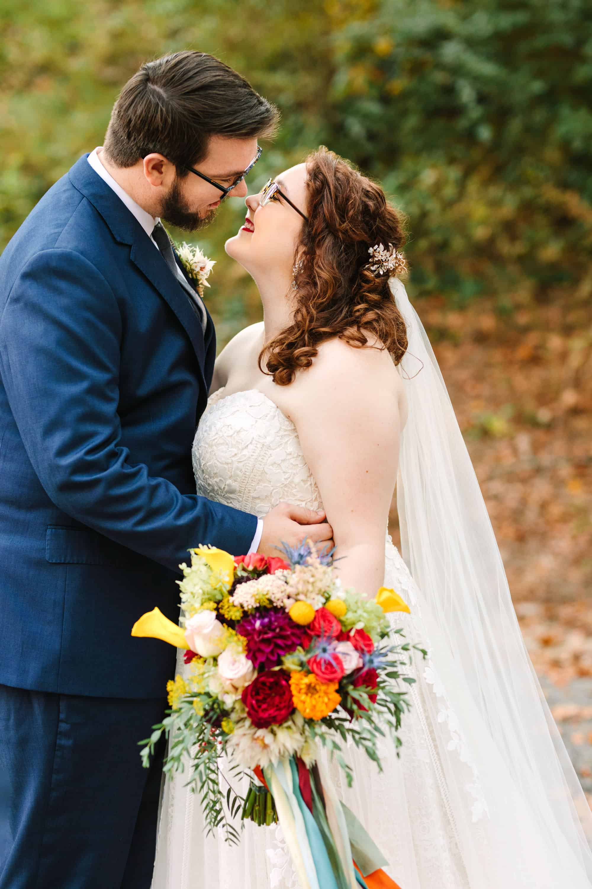Colorful wedding bouquet photo