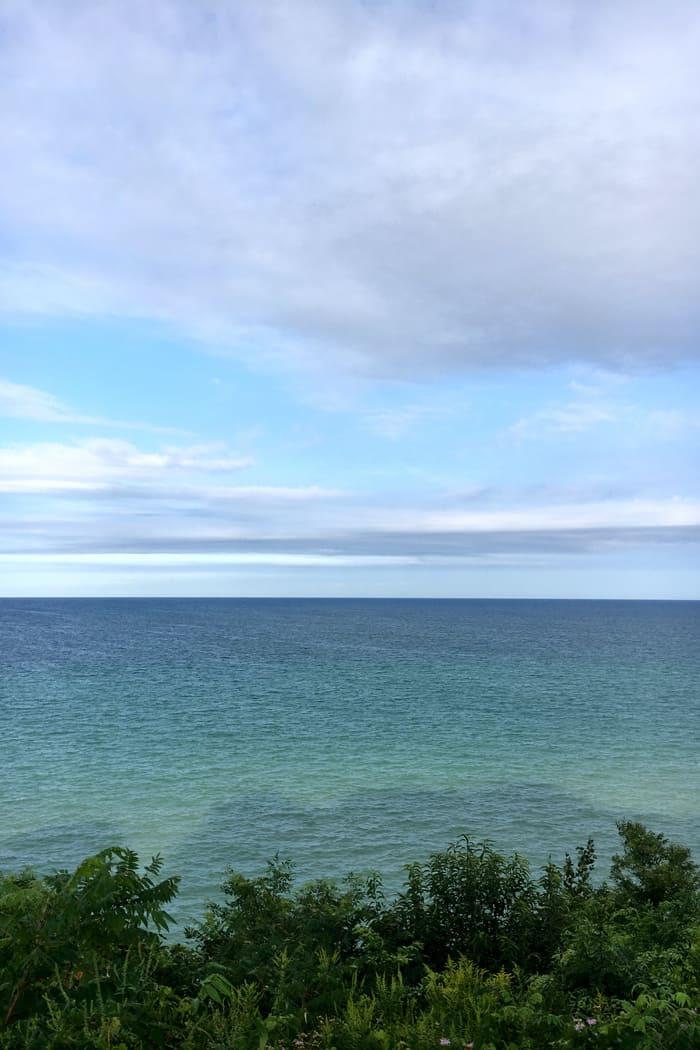 Lake Michigan as seen from Saugatuck