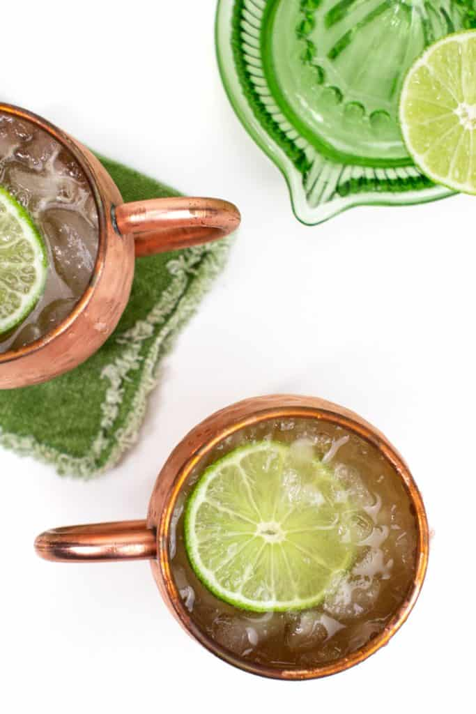 photo of Irish mule cocktails top-down